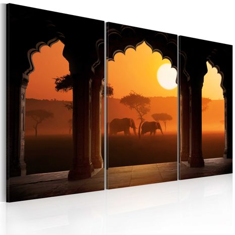 TABLOU - THE TRANQUILLITY OF AFRICA - TRIPTYCH
