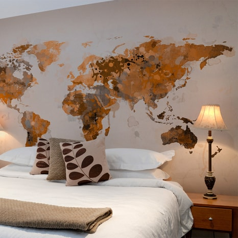 FOTO TAPETA - WORLD IN BROWN SHADES