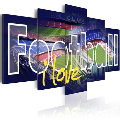 OBRAZ S NÁPISOM - FOOTBALL MY LOVE