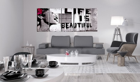 OBRAZ S NÁPISOM - BANKSY: LIFE IS BEAUTIFUL