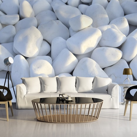FOTO TAPETA - WHITE PEBBLES