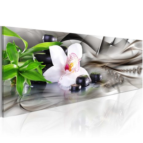 SLIKA - ZEN COMPOSITION: BAMBOO, ORCHID AND STONES