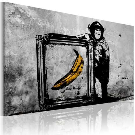 SLIKA - INSPIRED BY BANKSY - BLACK AND WHITE