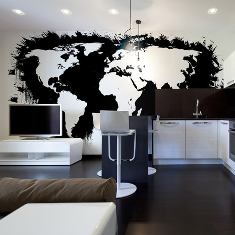 FOTO TAPETA - WHITE CONTINENTS, BLACK OCEANS...