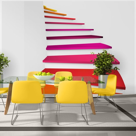 FOTO TAPETA - COLORFUL STAIRS