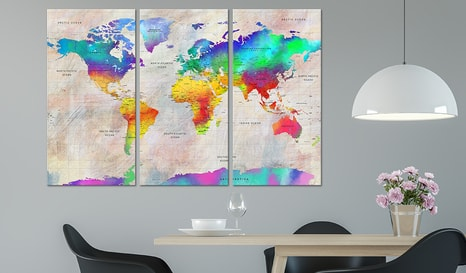 SLIKA - WORLD MAP: RAINBOW GRADIENT