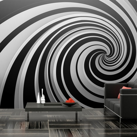 FOTO TAPETA XXL - BLACK AND WHITE SWIRL