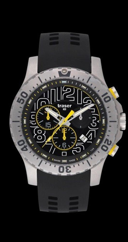 Traser Elite Chronograph silikon + 5 let záruka, pojištění hodinek ZDARMA