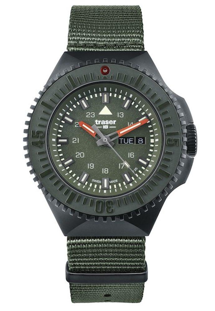 Traser P69 Black Stealth Green Nato + 5 let záruka, pojištění hodinek ZDARMA