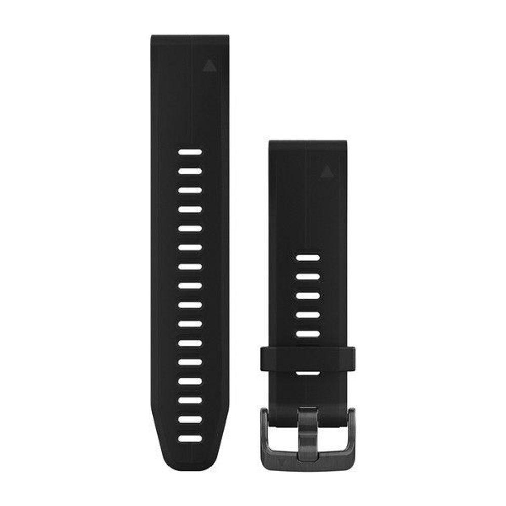 Garmin Řemínek Garmin QuickFit 20, silikonový, černý - 010-12739-00 + 5 let záruka, pojištění hodinek ZDARMA