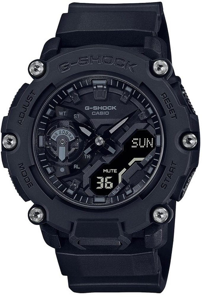 Casio G-Shock Carbon Core Guard GA-2200BB-1AER + 5 let záruka, pojištění hodinek ZDARMA
