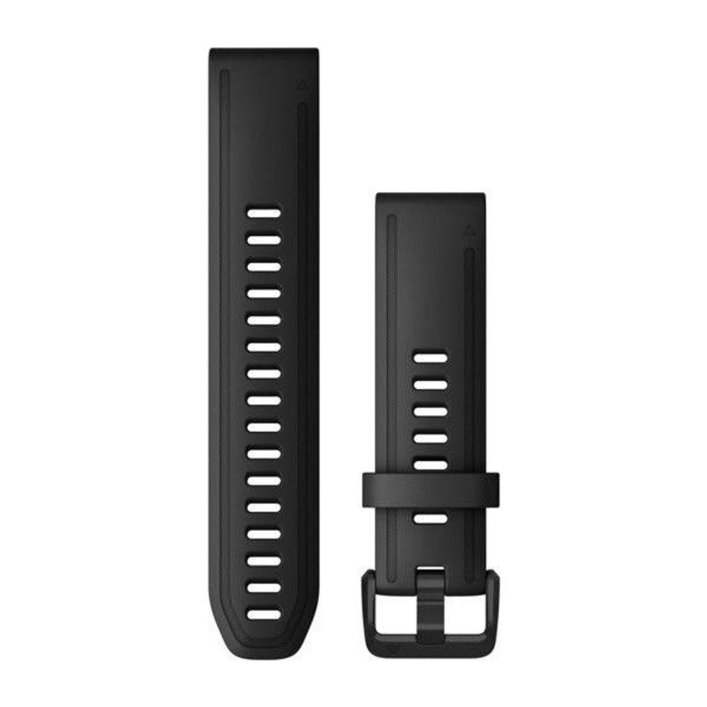 Garmin Řemínek Garmin QuickFit 20, silikonový, černý, černá přezka - 010-12867-00 + 5 let záruka, pojištění hodinek ZDARMA
