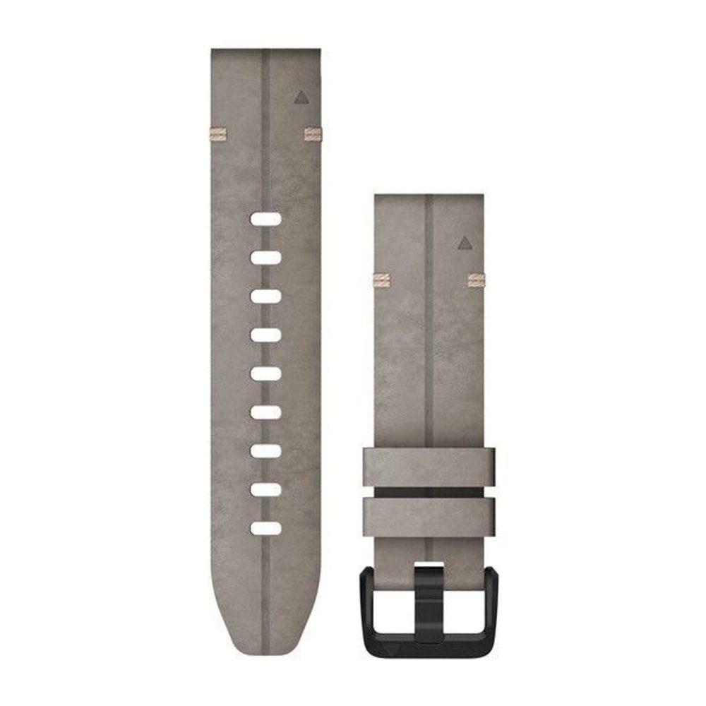 Garmin Řemínek Garmin QuickFit 20, semišový, šedý, černá přezka - 010-12876-00 + 5 let záruka, pojištění hodinek ZDARMA