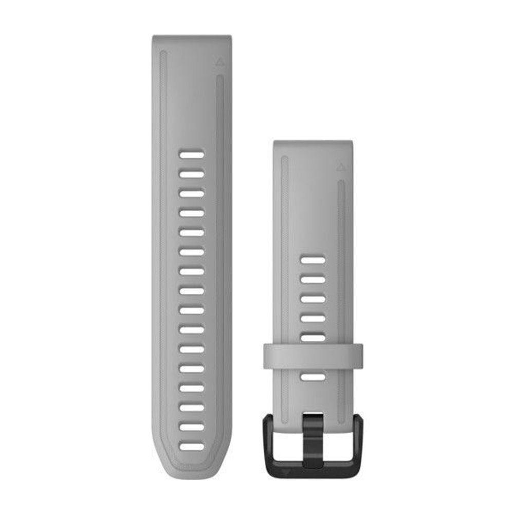 Garmin Řemínek Garmin QuickFit 20, silikonový, šedý, černá přezka + 5 let záruka, pojištění hodinek ZDARMA