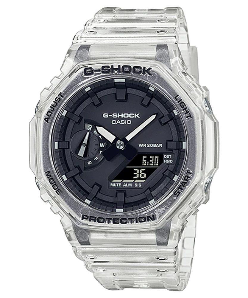 Casio G-Shock GA-2100SKE-7AER Transparent Pack + 5 let záruka, pojištění hodinek ZDARMA