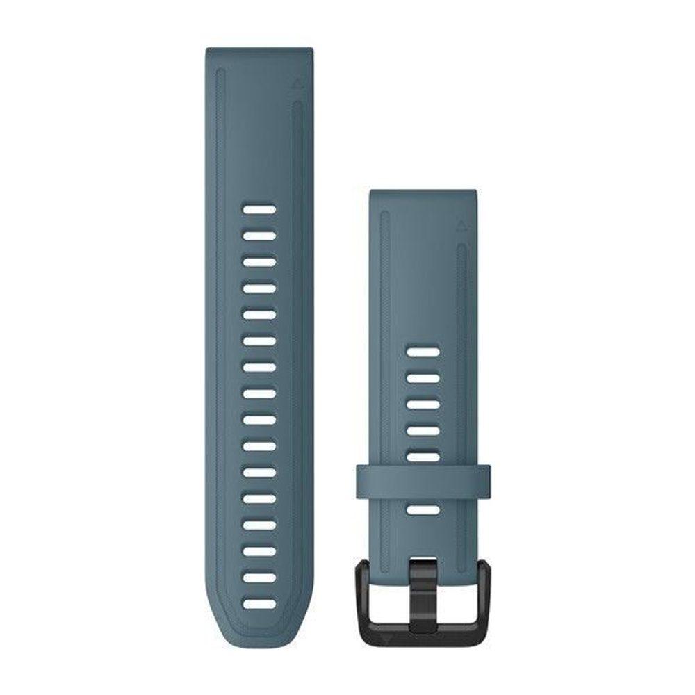 Garmin Řemínek Garmin QuickFit 20, silikonový, modrý, černá přezka - 010-12870-00 + 5 let záruka, pojištění hodinek ZDARMA