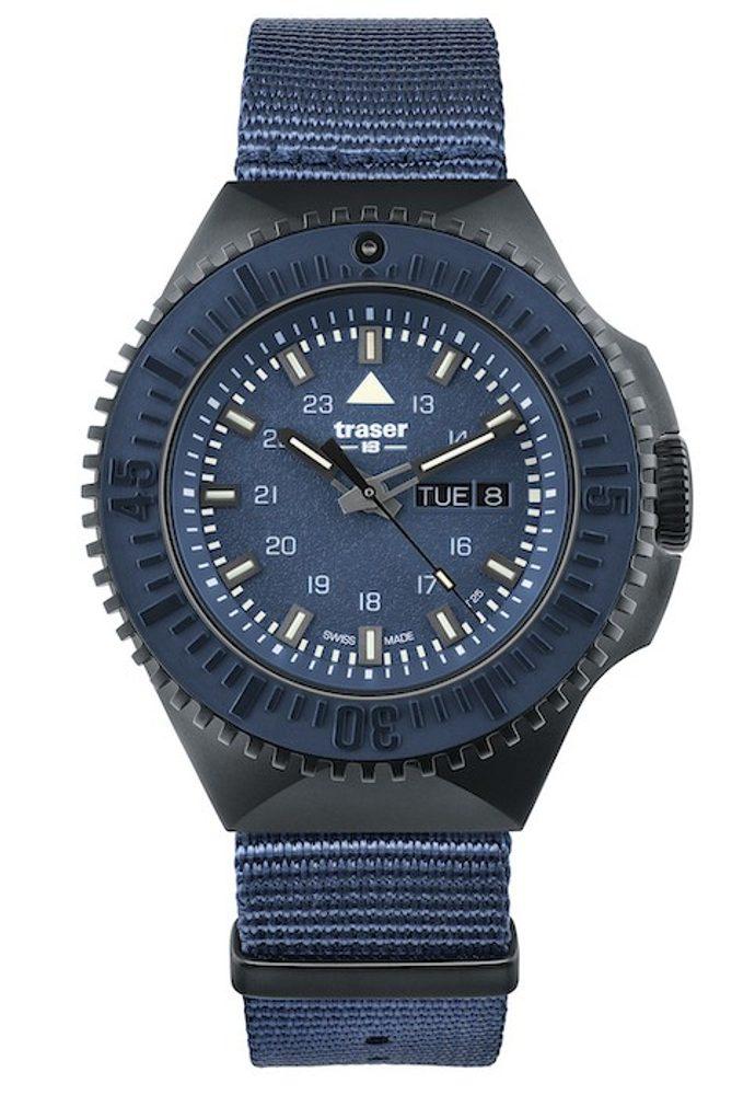 Traser P69 Black Stealth Blue Nato + 5 let záruka, pojištění hodinek ZDARMA