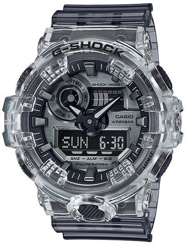 Casio G-Shock GA-700SK-1AER Clear Skeleton Series + 5 let záruka, pojištění hodinek ZDARMA