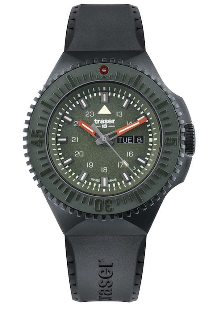 Traser P69 Black Stealth Green Pryž + 5 let záruka, pojištění hodinek ZDARMA