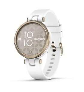 Garmin Lily Sport Cream Gold/White Silicone Band 010-02384-10