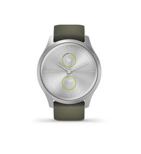 Garmin vivomove3 Style, Silver/Green Band 010-02240-21