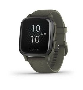 Garmin Venu Sq Music, Slate/Green Band 010-02426-13