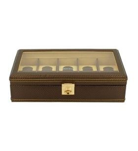 Box na hodinky Friedrich Lederwaren Carbon 32048-8