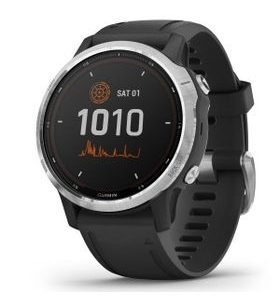 Garmin fenix6S Solar, Silver/Black Band 010-02409-00