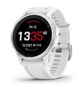 Garmin fenix6S Glass, Silver/White Band 010-02159-00