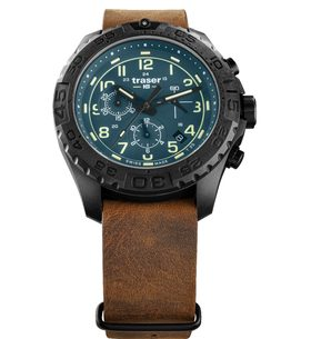 Traser P96 Outdoor Pioneer Evolution Chrono Petrol kůže