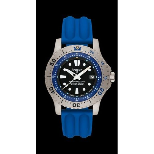 TRASER DIVER LONG-LIFE BLUE LIMITED EDITION MODRÝ SIL.