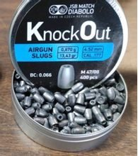 Diabolky JSB KnockOut Slug 4,52mm 400ks