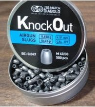 Diabolky JSB KnockOut Slug 4,51mm 500ks