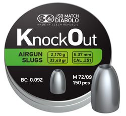 Diabolky JSB KnockOut Slugs 6,37mm