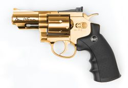 "Vzduchový revolver Dan Wesson 2,5"" gold cal. 4,5 mm"