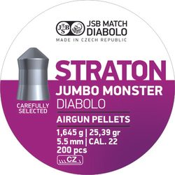 Diabolky JSB Jumbo Monster Straton 5,51mm 200ks