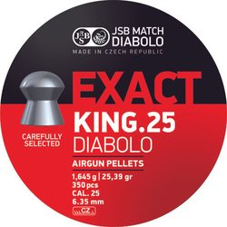 Diabolky JSB Exact King 6,35mm 350ks