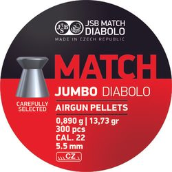 Diabolky JSB Jumbo Match 5,5mm 300ks