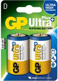 GP Ultra Plus Alkaline R20 blister/2 ks