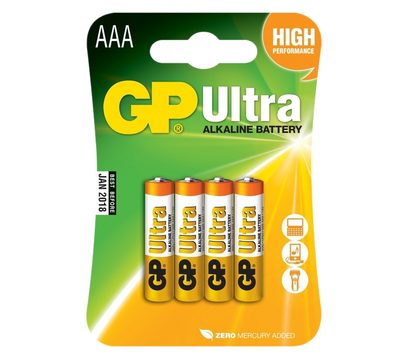 GP Ultra Alkaline R03 (AAA) blister / 4 ks
