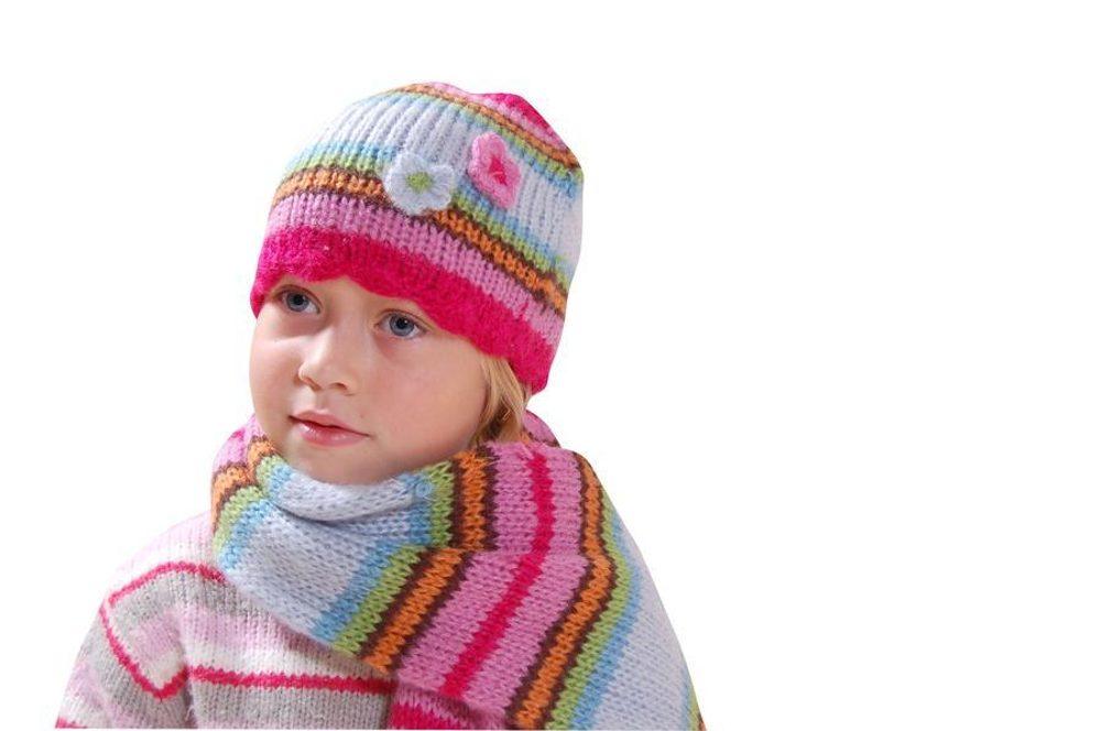 čepice dívčí pletená, Bugga, PD377, mix - 1/2let