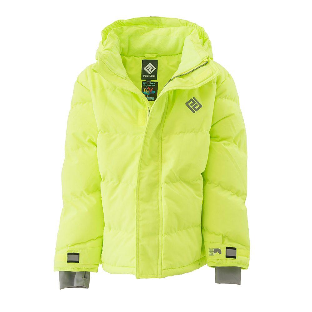 bunda zimní Puffa Neon chlapecká, Pidilidi, PD1110-19, zelená - 158