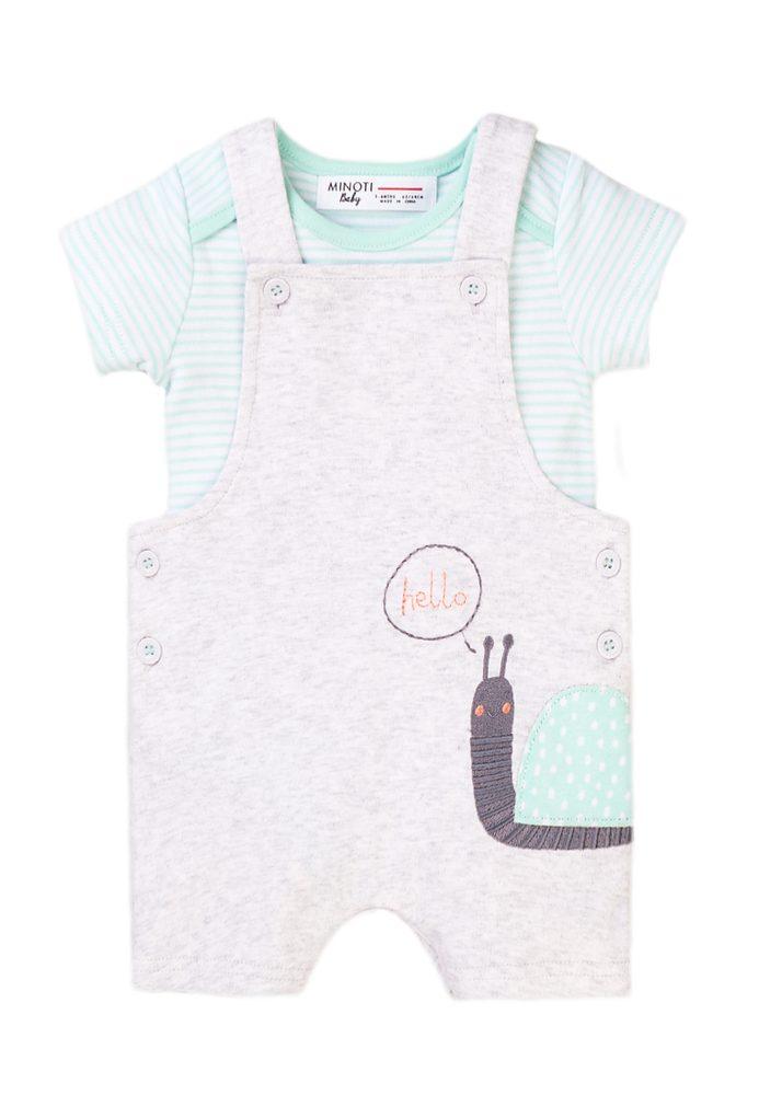 Kojenecký set, tričko a kraťasy laclové, Minoti, Numbers 6, kluk - 50
