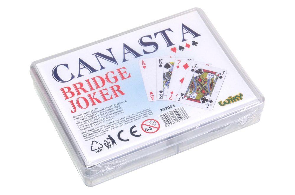 Karty Canasta - plast. krabička, Wiky, W202003