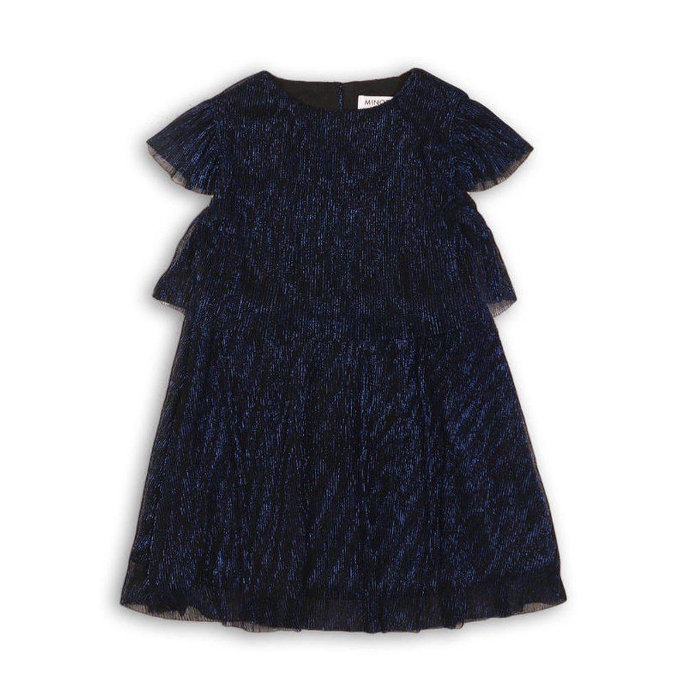 Šaty dievčenské slávnostné, Minoti, FORTUNE 3, tmavě modrá - 104/110