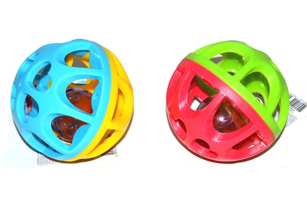 Míč s chrastítkem 9 cm, 2 druhy, PLAYGO, W100492