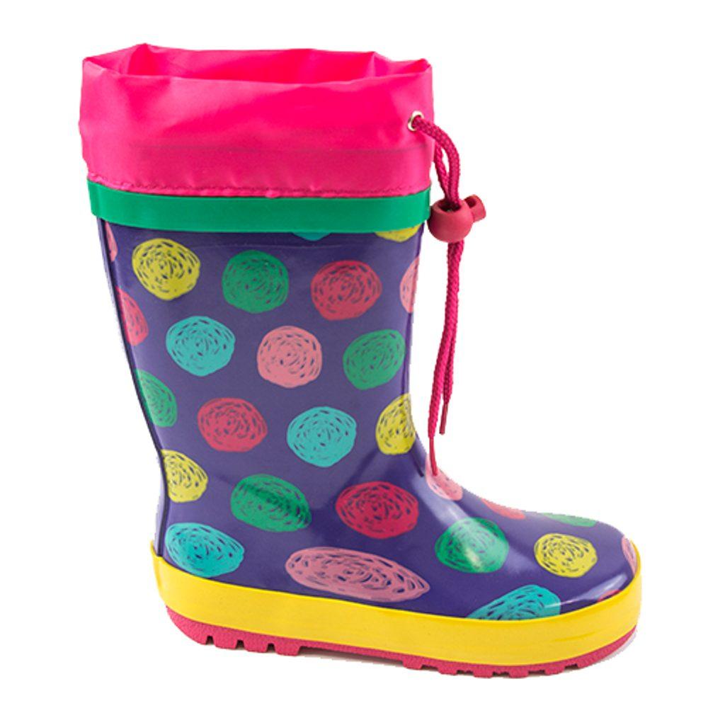 dievčenské čižmy gumové - bodky, Pidilidi, PL0086, dievča - 30