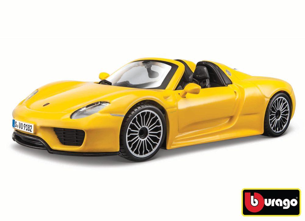 Bburago 1:24 Porsche 918 Spyder Yellow, Bburago, W007344