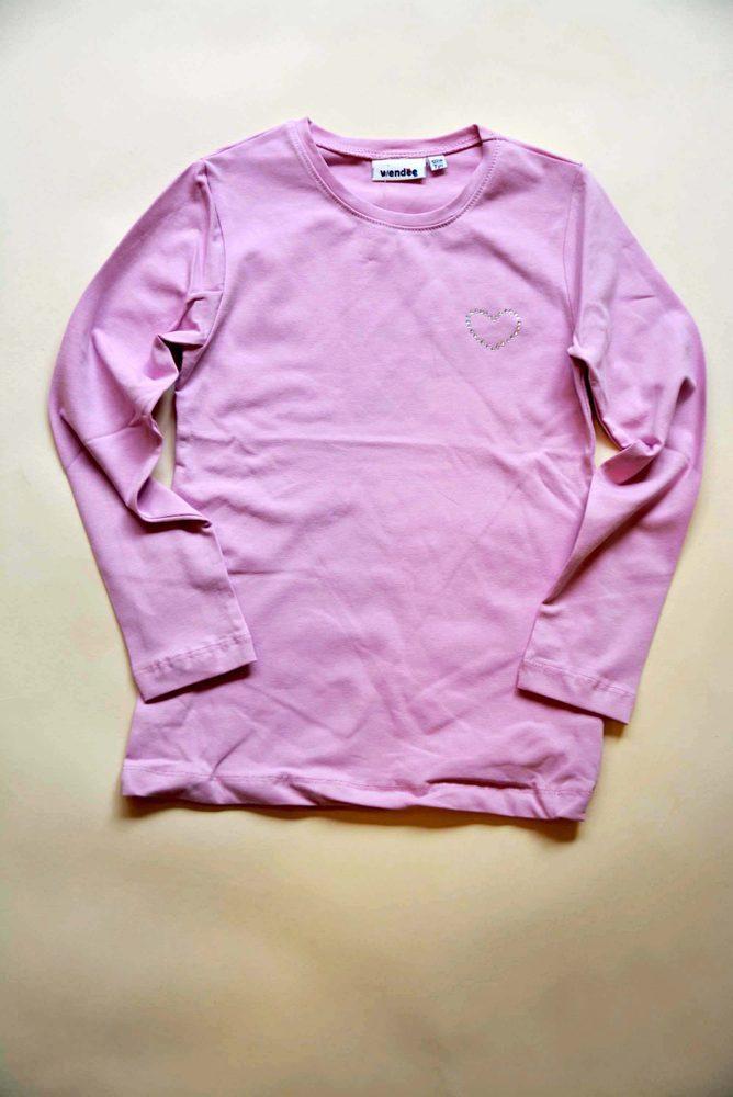 Levně Wendee tričko dívčí s dlouhým rukávem, Wendee, ozb102493-2, růžová - 146