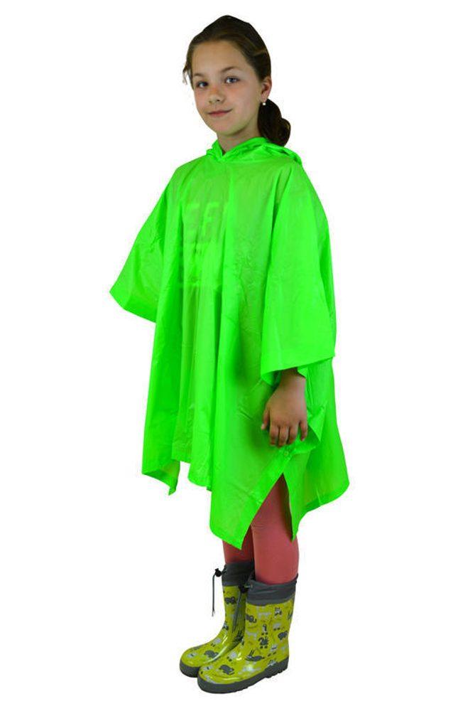 Pončo neónové, Pidilidi, PL0066, zelená - dětská
